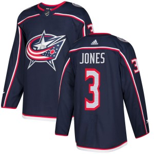 Seth Jones Columbus Blue Jackets Men's Adidas Authentic Navy Jersey