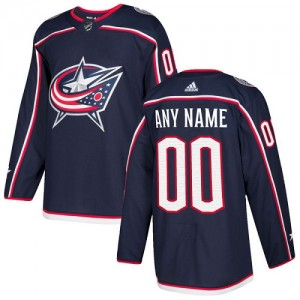 Youth Adidas Columbus Blue Jackets Customized Authentic Navy Blue Home Jersey