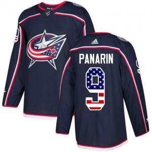 Artemi Panarin Columbus Blue Jackets Men's Adidas Authentic Navy Blue USA Flag Fashion Jersey
