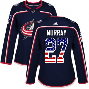 Ryan Murray Columbus Blue Jackets Women's Adidas Authentic Navy Blue USA Flag Fashion Jersey