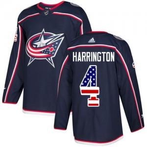 Scott Harrington Columbus Blue Jackets Youth Adidas Authentic Navy Blue USA Flag Fashion Jersey