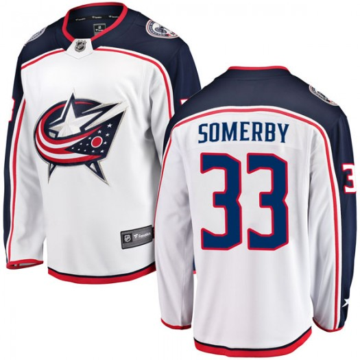Doyle Somerby Columbus Blue Jackets Men's Fanatics Branded White Breakaway Away Jersey