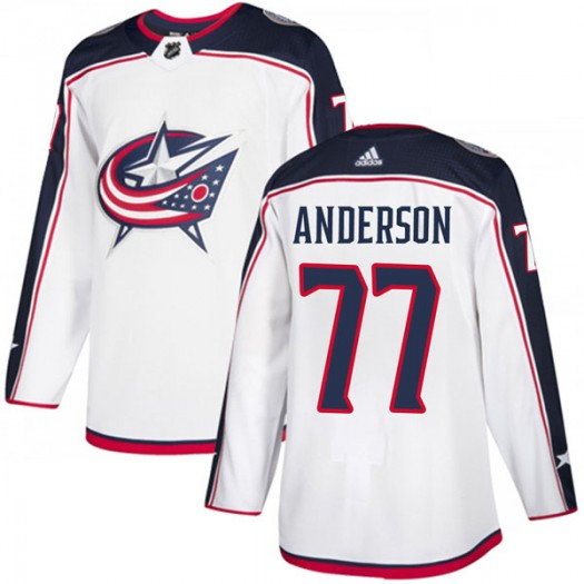 Josh Anderson Columbus Blue Jackets Men's Adidas Authentic White Away Jersey