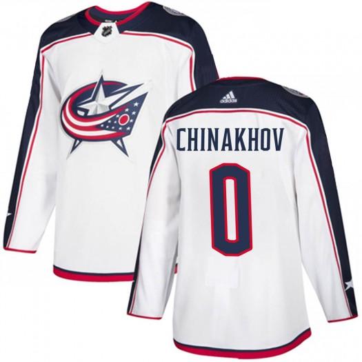 Yegor Chinakhov Columbus Blue Jackets Men's Adidas Authentic White Away Jersey