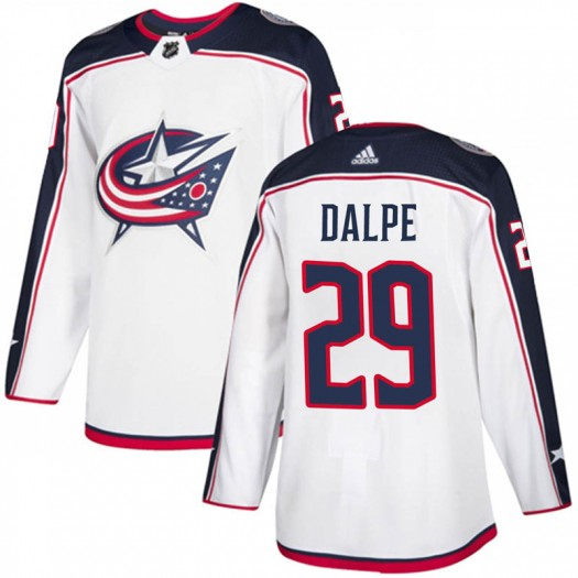 Zac Dalpe Columbus Blue Jackets Men's Adidas Authentic White Away Jersey