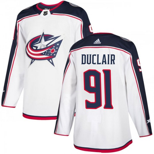 Anthony Duclair Columbus Blue Jackets Men's Adidas Authentic White Away Jersey