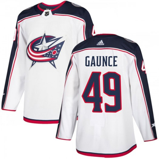 Cameron Gaunce Columbus Blue Jackets Men's Adidas Authentic White Away Jersey