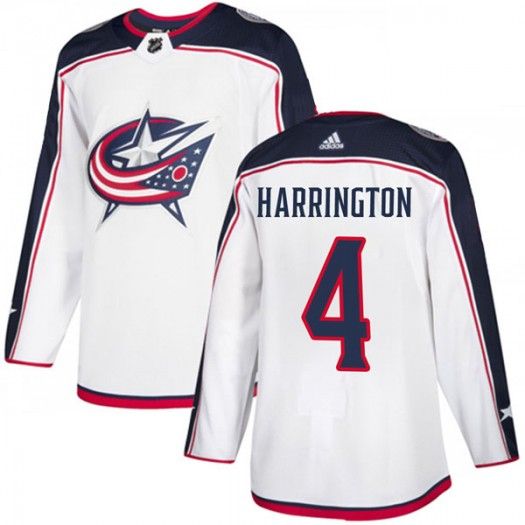 Scott Harrington Columbus Blue Jackets Men's Adidas Authentic White Away Jersey