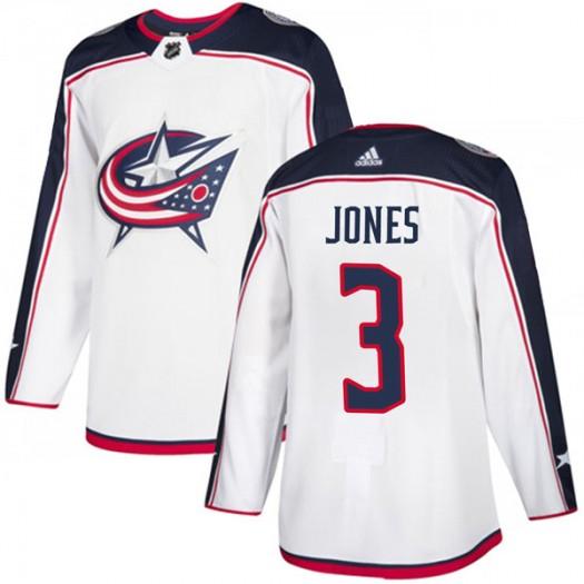 Seth Jones Columbus Blue Jackets Men's Adidas Authentic White Away Jersey