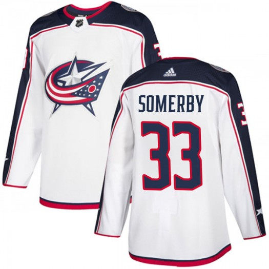 Doyle Somerby Columbus Blue Jackets Men's Adidas Authentic White Away Jersey