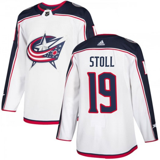 Jarret Stoll Columbus Blue Jackets Men's Adidas Authentic White Away Jersey