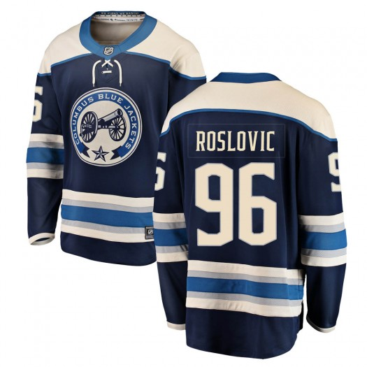 Jack Roslovic Columbus Blue Jackets Youth Fanatics Branded Blue Breakaway Alternate Jersey