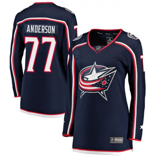 Josh Anderson Columbus Blue Jackets Women's Fanatics Branded Navy Breakaway Home Jersey