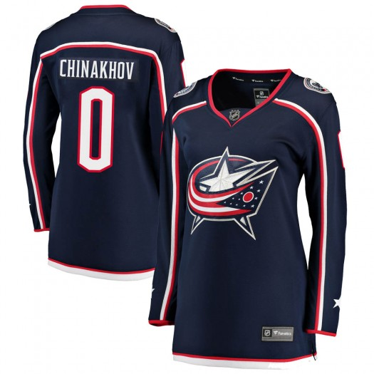 Yegor Chinakhov Columbus Blue Jackets Women's Fanatics Branded Navy Breakaway Home Jersey