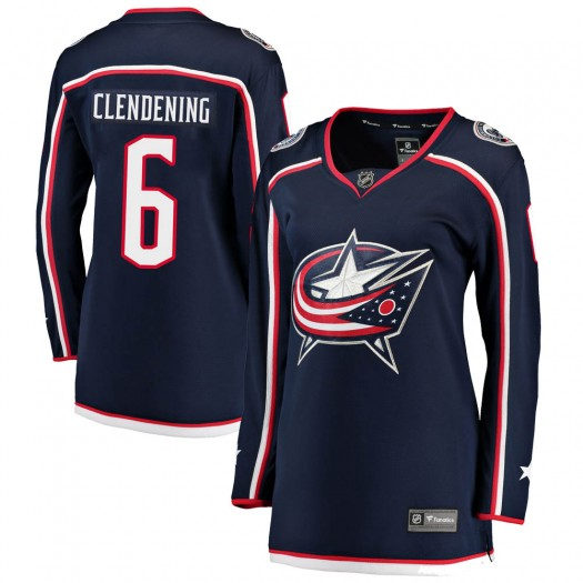 Adam Clendening Columbus Blue Jackets Women's Fanatics Branded Navy Breakaway Home Jersey