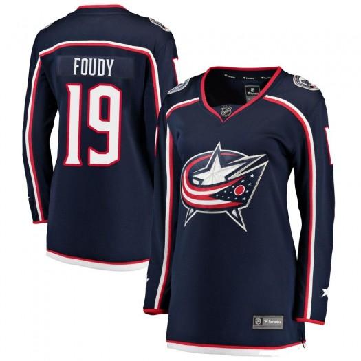 Liam Foudy Columbus Blue Jackets Women's Fanatics Branded Navy ized Breakaway Home Jersey