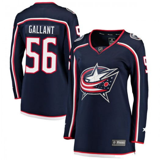 Brett Gallant Columbus Blue Jackets Women's Fanatics Branded Navy Breakaway Home Jersey