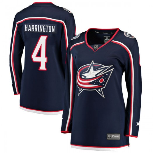 Scott Harrington Columbus Blue Jackets Women's Fanatics Branded Navy Breakaway Home Jersey