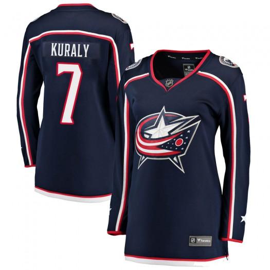 Sean Kuraly Columbus Blue Jackets Women's Fanatics Branded Navy Breakaway Home Jersey