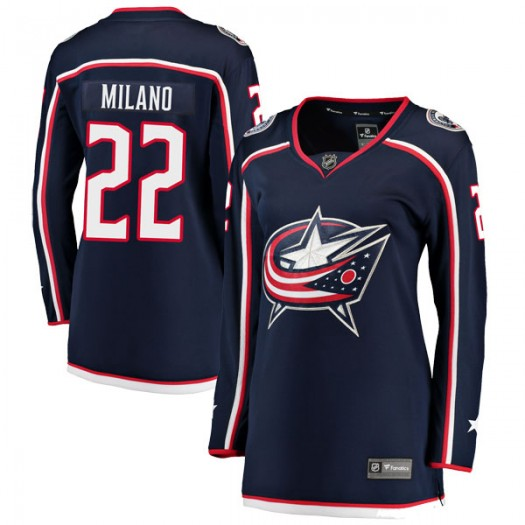 Sonny Milano Columbus Blue Jackets Women's Fanatics Branded Navy Breakaway Home Jersey