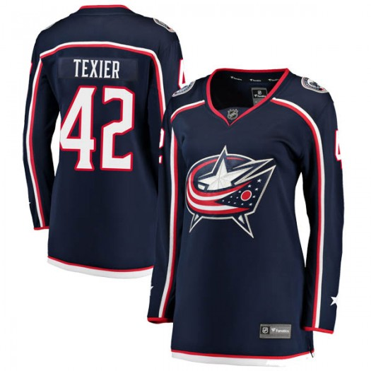 Alexandre Texier Columbus Blue Jackets Women's Fanatics Branded Navy Breakaway Home Jersey