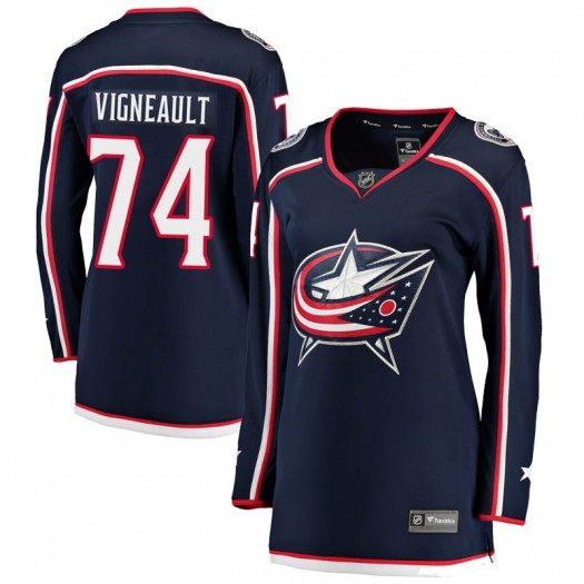 Sam Vigneault Columbus Blue Jackets Women's Fanatics Branded Navy Breakaway Home Jersey