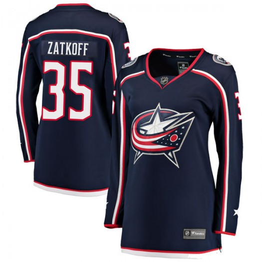 Jeff Zatkoff Columbus Blue Jackets Women's Fanatics Branded Navy Breakaway Home Jersey