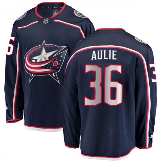 Keith Aulie Columbus Blue Jackets Youth Fanatics Branded Navy Breakaway Home Jersey