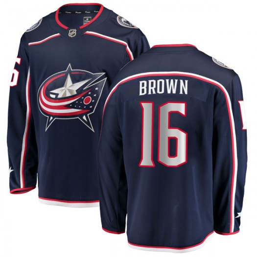 Mike Brown Columbus Blue Jackets Youth Fanatics Branded Brown Breakaway Navy Home Jersey
