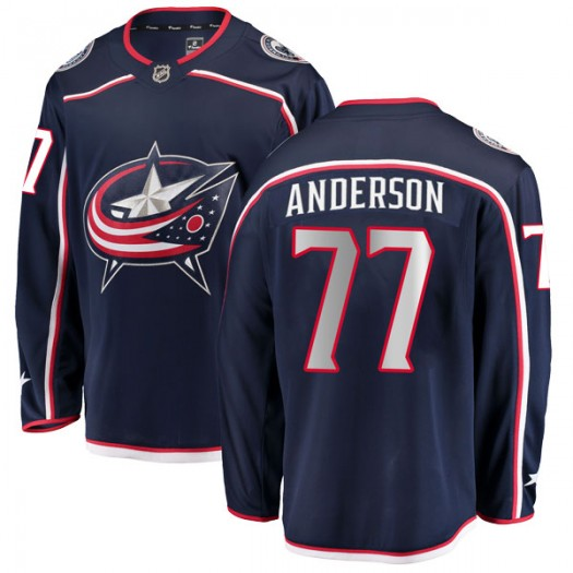 Josh Anderson Columbus Blue Jackets Men's Fanatics Branded Navy Breakaway Home Jersey