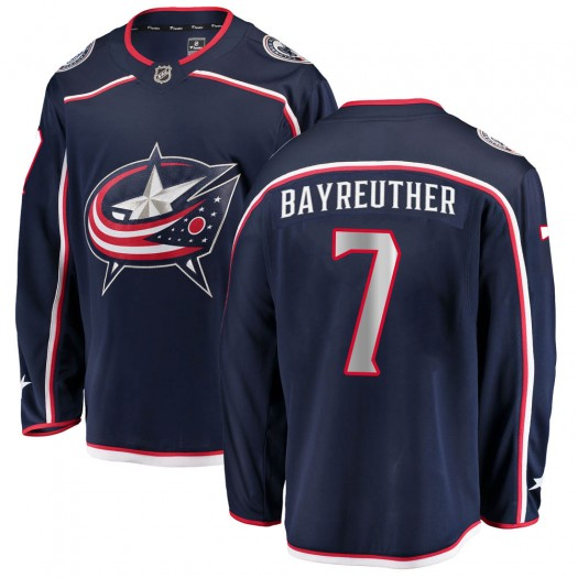 Gavin Bayreuther Columbus Blue Jackets Men's Fanatics Branded Navy Breakaway Home Jersey