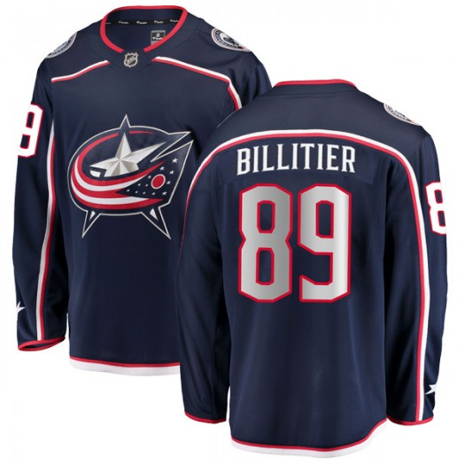Nathan Billitier Columbus Blue Jackets Men's Fanatics Branded Navy Breakaway Home Jersey
