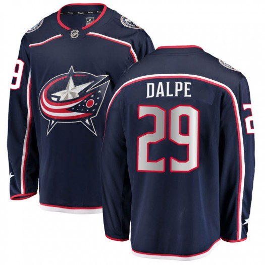 Zac Dalpe Columbus Blue Jackets Men's Fanatics Branded Navy Breakaway Home Jersey