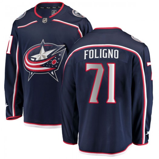 Nick Foligno Columbus Blue Jackets Men's Fanatics Branded Navy Breakaway Home Jersey