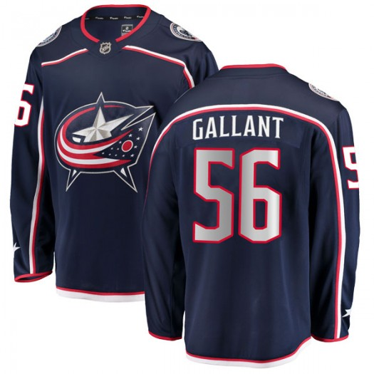 Brett Gallant Columbus Blue Jackets Men's Fanatics Branded Navy Breakaway Home Jersey