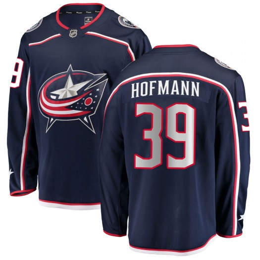 Gregory Hofmann Columbus Blue Jackets Men's Fanatics Branded Navy Breakaway Home Jersey