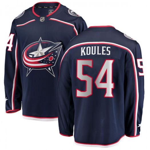 Miles Koules Columbus Blue Jackets Men's Fanatics Branded Navy Breakaway Home Jersey