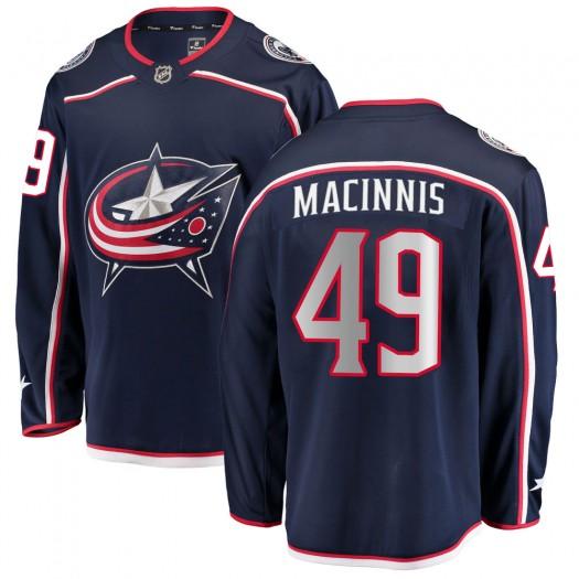 Ryan MacInnis Columbus Blue Jackets Men's Fanatics Branded Navy ized Breakaway Home Jersey
