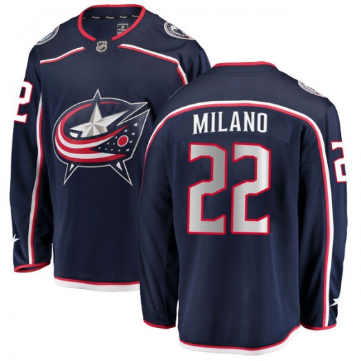 Sonny Milano Columbus Blue Jackets Men's Fanatics Branded Navy Breakaway Home Jersey