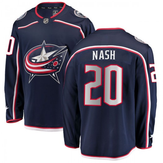 Riley Nash Columbus Blue Jackets Men's Fanatics Branded Navy Breakaway Home Jersey