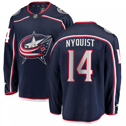 Gustav Nyquist Columbus Blue Jackets Men's Fanatics Branded Navy Breakaway Home Jersey