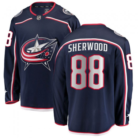 Kole Sherwood Columbus Blue Jackets Men's Fanatics Branded Navy Breakaway Home Jersey
