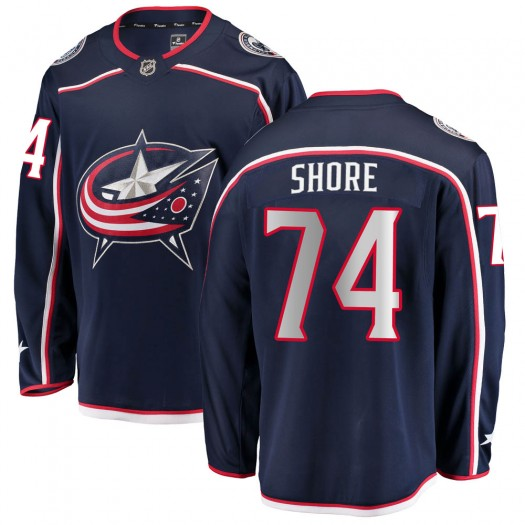 Devin Shore Columbus Blue Jackets Men's Fanatics Branded Navy ized Breakaway Home Jersey