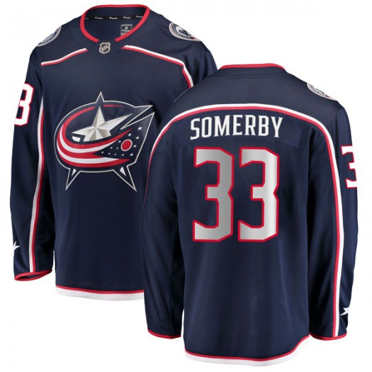 Doyle Somerby Columbus Blue Jackets Men's Fanatics Branded Navy Breakaway Home Jersey