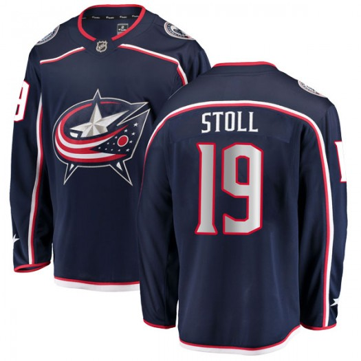Jarret Stoll Columbus Blue Jackets Men's Fanatics Branded Navy Breakaway Home Jersey