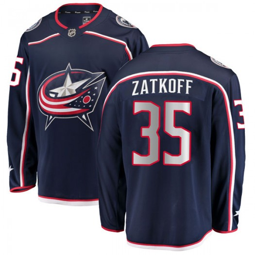 Jeff Zatkoff Columbus Blue Jackets Men's Fanatics Branded Navy Breakaway Home Jersey