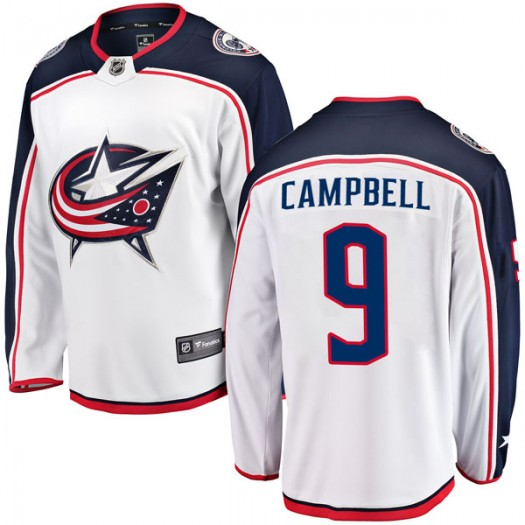 Gregory Campbell Columbus Blue Jackets Youth Fanatics Branded White Breakaway Away Jersey