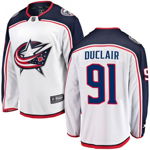 Anthony Duclair Columbus Blue Jackets Youth Fanatics Branded White Breakaway Away Jersey