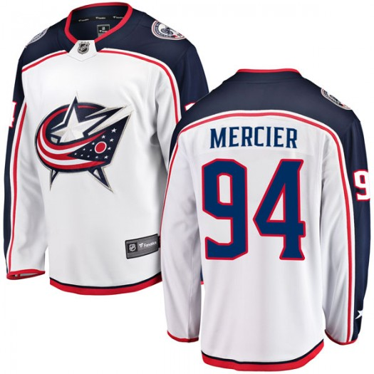 Medric Mercier Columbus Blue Jackets Youth Fanatics Branded White Breakaway Away Jersey