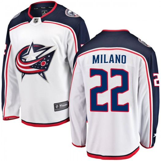 Sonny Milano Columbus Blue Jackets Youth Fanatics Branded White Breakaway Away Jersey